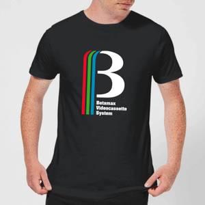 Betamax Logo Men's T-Shirt - Black