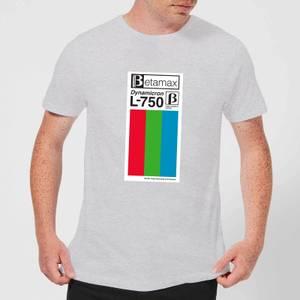 Betamax Label Men's T-Shirt - Grey