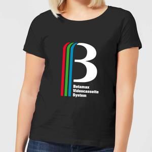 Betamax Logo Women's T-Shirt - Black