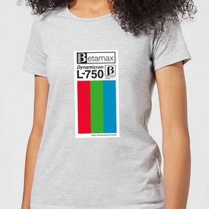 Betamax Label Women's T-Shirt - Grey