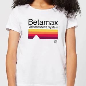 Betamax Cassette System Women's T-Shirt - White