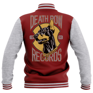 Giacca College Death Row Records - Grigio/Bordeaux - Donna