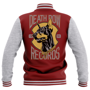 Veste Teddy Death Row Records - Bordeaux/Gris - Femme