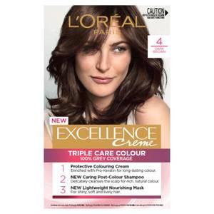 L'Oréal Paris Excellence Creme Permanent Hair Colour - Dark Brown 4.0