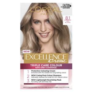 L'Oréal Paris Excellence Creme Permanent Hair Colour - Ash Blonde 8.1