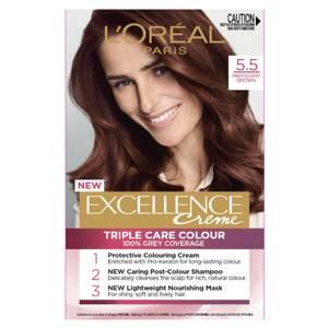 L'Oréal Paris Excellence Creme Permanent Hair Colour - Mahogany Brown 5.5