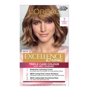 L'Oréal Paris Excellence Creme Permanent Hair Colour - Dark Blonde 7.0