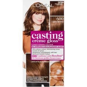L'Oréal Paris Casting Creme Gloss Semi-Permanent Hair Colour - Light Brown 600