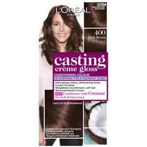 L'Oréal Paris Casting Creme Gloss Semi-Permanent Hair Colour - Dark Brown 400