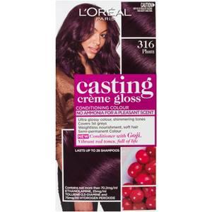 L'Oréal Paris Casting Creme Gloss Semi-Permanent Hair Colour - Plum 316