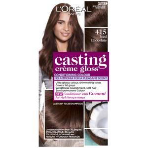 L'Oréal Paris Casting Creme Gloss Semi-Permanent Hair Colour - Iced Chocolate 415
