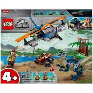 LEGO Jurassic World: Velociraptor Biplane Rescue Toy (75942)