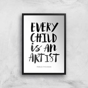 The Motivated Type Every Child Is An Artist Giclee Art Print