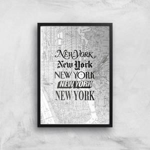 The Motivated Type New York Street Map Giclee Art Print