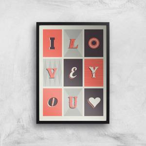 The Motivated Type I Love You Illustrated Giclee Art Print