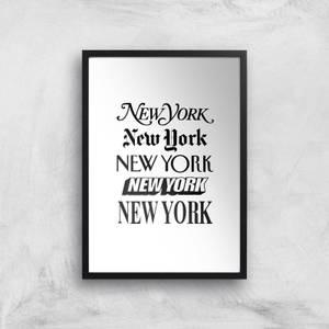 The Motivated Type New York New York Giclee Art Print