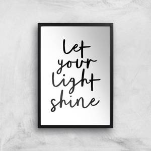The Motivated Type Let Your Light Shine Giclee Art Print