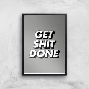 The Motivated Type Get Shit Done 3D Grey Giclee Art Print