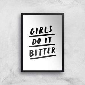 The Motivated Type Girls Do It Better Giclee Art Print