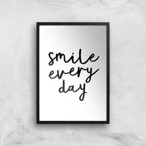 The Motivated Type Smile Every Day Giclee Art Print