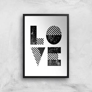 The Motivated Type LOVE Grit Giclee Art Print