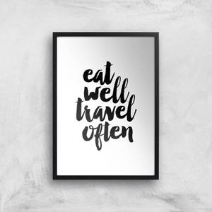 The Motivated Type Eat Well Travel Often Handwritten Giclee Art Print