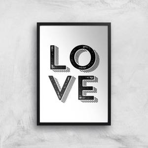 The Motivated Type LOVE Letterpress Giclee Art Print