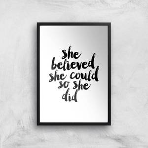 The Motivated Type She Believed She Could So She Did Giclee Art Print