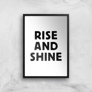 The Motivated Type Rise And Shine Letterpress Giclee Art Print