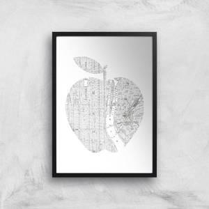 The Motivated Type New York Big Apple Giclee Art Print