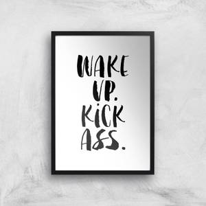 The Motivated Type Wake Up Kick Ass Watercolour Giclee Art Print