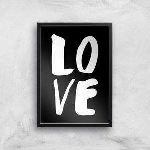 The Motivated Type LOVE Hand Lettered Giclee Art Print