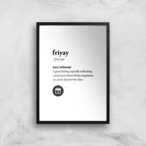 The Motivated Type Friyay Giclee Art Print