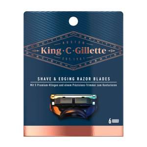 King C. Gillette Bartrasierer Klingen (6 Stück)