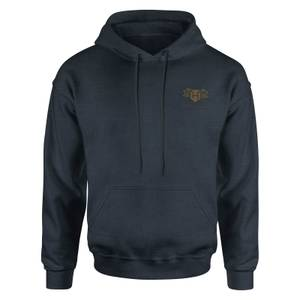 Harry Potter Hufflepuff Embroidered Kids' Piped Hoodie - Navy