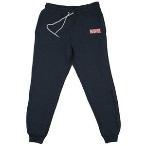 Marvel Logo Kids' Piped Joggers - Navy