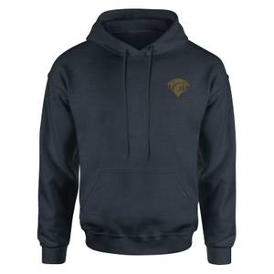 Harry Potter Gryffindor Embroidered Kids' Piped Hoodie - Navy