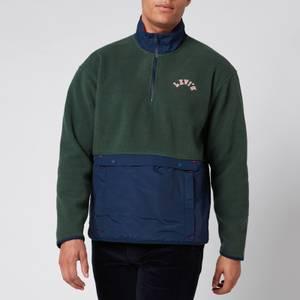 Levi's Men's Quarter Zip Polar Fleece - Python Green