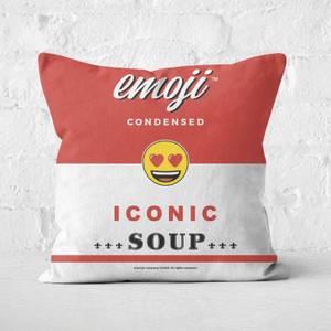 Emoji Heart Eyes Square Cushion