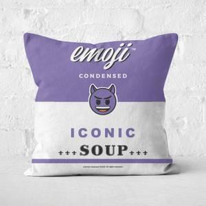 Emoji Devil Square Cushion