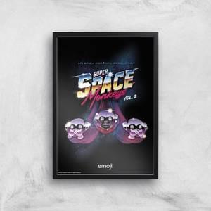 Emoji Super Space Monkeys Giclee Art Print