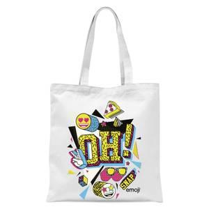 Emoji OH! Snap Tote Bag - White
