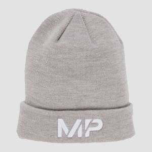 MP Cuff Knitted Beanie - Chrome/White