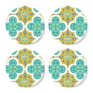 Eid Mubarak Summer Tile Print Coaster Set