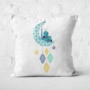 Eid Mubarak Moon Charm Square Cushion