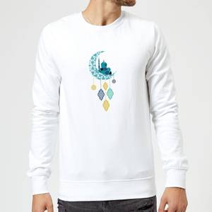 Eid Mubarak Moon Charm Sweatshirt - White