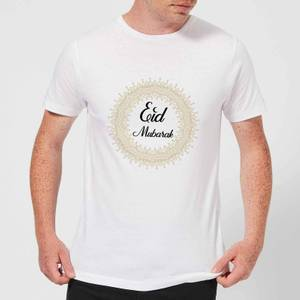 Eid Mubarak Golden Mandala Men's T-Shirt - White