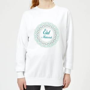Eid Mubarak Rainbow Mandala Women's Sweatshirt - White