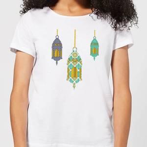 Eid Mubarak Lamps Women's T-Shirt - White