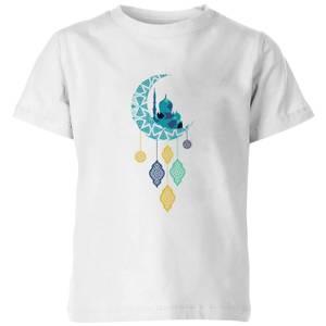 Eid Mubarak Moon Charm Kids' T-Shirt - White
